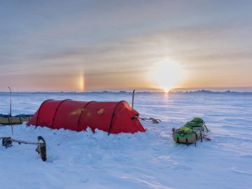 Arctic Tent & Sunset