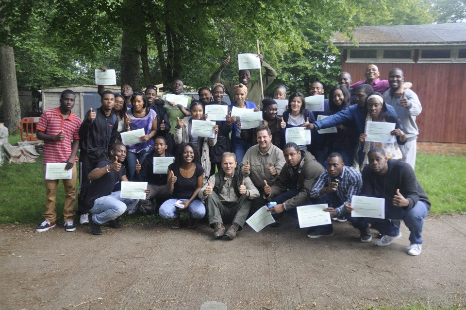 One happy and successful group on completing their rite of passage
